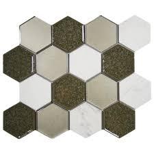 hover show sienna blend hexagon tile