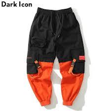 <b>Dark Icon</b> Side Stripe Letter Printed <b>Plaid</b> Pants Men Jogging Pants ...