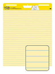 Post It Super Sticky Easel Pad 25 X 30 Inches 30 Sheets Pad 2 Pads 561 Yellow Lined Premium Self Stick Flip Chart Paper Super Sticking Power