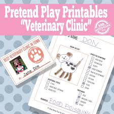 Dramatic Play Inside Vet Printables Play Centers Free Kids Kids For Pretend Printable Activities
