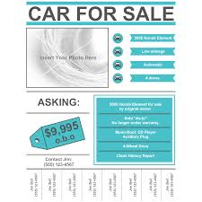 Car For Sale Template Car For Sale Flyer