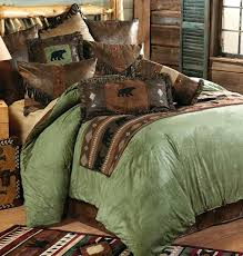bear comforter image of rustic cabin bedding vintage rugged bear comforter set