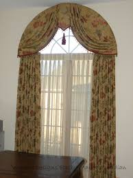 Arched window treatment. Elegant Arch Top Window Treatment. See more at  www.windowdesignsetc