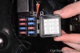 fuses and relays cyclepedia suzuki dl650 online manual remove the fuse box lid and replace the blown fuses as necessary