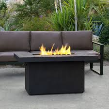 surprise outdoor propane gas fire pit fortune table real flame ventura 50 in fiber