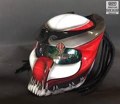 Predator Motorcycle Helmet Designs Sy35 Pro Predator Motorcycle Helmet Dot Approved Ece Red White Graphic