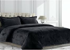 details about bedding collection 3 pc king cal king black plain velvet duvet cover set