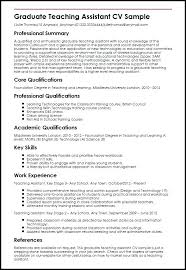 Teacher Assistant Resume Sample Graduate Teaching Assistant Sample