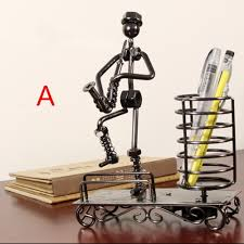 office table decoration. Home Office Table Decoration Accessories Creative Metal Desk Pen Holder Retro Rustic New Year Gift 2016 Free Shipping