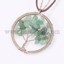 natural green aventurine pendant necklaces njew g282 14e 1