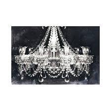 metal chandelier wall art modern pop glam chandelier black and white x canvas art glam r