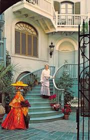 disneyland postcard le grand courtyard in new orleans square 107993