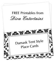 Template For Place Cards Free Damask Blank Place Card Tentweb Table Tent Cards Template Free Wcc
