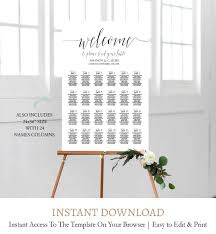 Diy Wedding Seating Chart Template C1