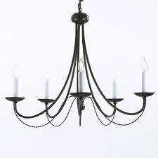 understated candle light chandelier and decorative chandelier with wrought iron hanging candelabra