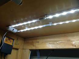 led strip lights under cabinet contemporary kitchen