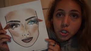 James Face Chart I Entered In James Charles Facechart Contest Youtube