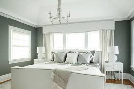 Chic Gray and White Master Bedroom With Custom Details Karen Wolf