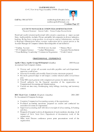 Account Cv Template 2 Chief Accountant Resume Samples 9 And Format