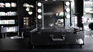 makeup artist network black studio makeup case with led lights mirror and legs you