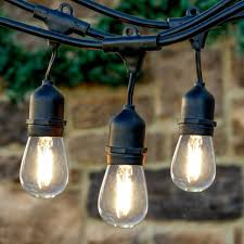 Where To Buy String Lights Newhouse Lighting 48 Foot Outdoor String Lights Led Bulbs