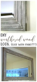 Wood Looking Paint Diy Weathered Wood Look With Paint Artsy Chicks Ruler