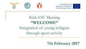 Kick Off Meeting For Welcome Integration Of Young Refugees
