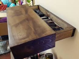 Hidden Drawer Lock Rustic Wood Floating Shelf With Hidden Compartment Magnetic Lock