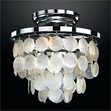 glow lighting inch w round shell flush mount light fixture the home depot capiz