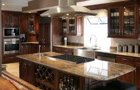 Dark Brown Kitchen Cabinets White Wooden Island With Open Shelves White Kitchen Cabinets Wall