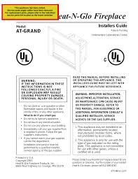 heat n glo gas fireplace manual junsa us heat amp glo fireplace heat amp glo fireplace at grand user manual