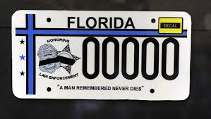 Rights Plate County License Pinellas Fallen Memorial Coalition florida Officer Victim