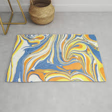 bright colors swirly marble background rug