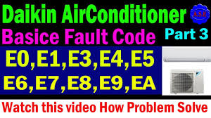 daikin air conditioner error code eo e1