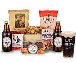 father s day father s day man crate snack selection tray with guinness