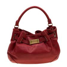 burberry red leather willenmore hobo