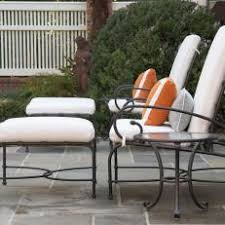 white wrought iron furniture. Wrought Iron Patio Chairs With Matching Ottomans White Furniture E