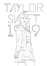 Small Picture Taylor swift coloring pages 1989 ColoringStar