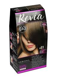 Light Brown Hair Color Shop Revia Permanent 3d Hair Color No 11 Light Brown 50 Ml Online In Dubai Abu Dhabi And All Uae