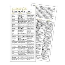 Hadley Designs 25 4x9 Essential Oil Reference Cards For
