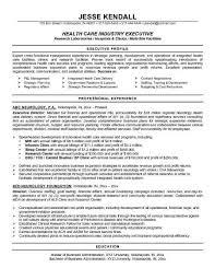 Healthcare Executive Resume Samples Sample Executive Resume Format