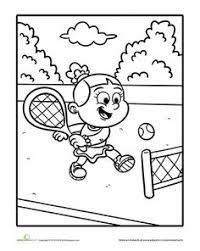 Small Picture Tennis sport coloring page for kids printable free Coloring