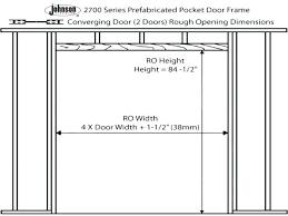 door rough opening sizes medium size of closet door frame marvelous closet door rough opening height