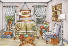 interior design hand drawings. Hand Drawings Color Marker Rendering Kitchen Wood Bathroom Anou Mirkine Offers A Variety Of Interior Design