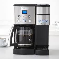 You can add a little bit of very light water and a little bit of soap mild (soap just if you have any coffee stains or anything like that) to just clean it, never use anything abrasive on your coffee maker, because you will scratch the finish. Cuisinart Coffee Center And Single Serve Brewer With Glass Carafe Williams Sonoma