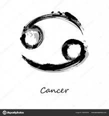Abstraktní Obrázek Zvěrokruh Znamení Raka Zodiac Ikona Stock