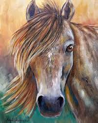 acrylic painting horse head tutorial by on