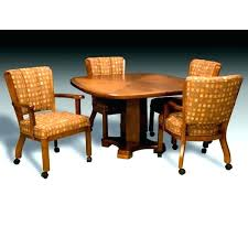 dinette chairs with wheels dining sets with casters dining sets with rolling chairs rolling dining room