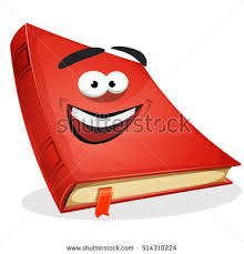 red book character ilration of a cartoon funny red covered book character happy and