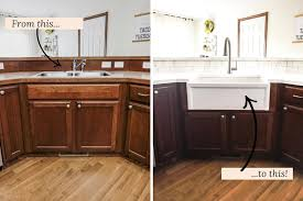 1 before after fireclay how to install a farmhouse sink